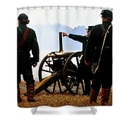 Gatling Gun On The Battle Field Shower Curtain