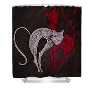 Gato De Rojo Shower Curtain
