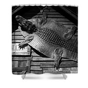 Gator Hide Shower Curtain