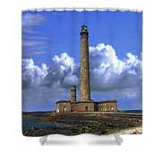 Gatteville Lighthouse Shower Curtain