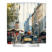 Gatubild Paris Shower Curtain
