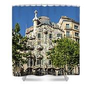 Casa Batillo - Gaudi Designed  - Barcelona Spain Shower Curtain