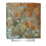 Gaudi Mozaic Abstraction Shower Curtain