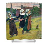 Gauguin: Breton Girls, 1888 Shower Curtain