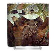 Gauguin: Breton Women Shower Curtain