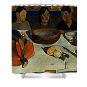 Gauguin: Meal, 1891 Shower Curtain