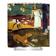 Gauguin: Pastoral, 19th C Shower Curtain