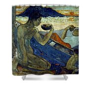 Gauguin: Pirogue, 19th C Shower Curtain