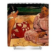 Gauguin: Tahiti Women, 1891 Shower Curtain