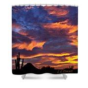 Gavilan Peak With Painted Sky Shower Curtain