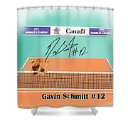 Gavin Schmitt Shower Curtain by Darren Cannell