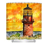Gay Head Lighthouse Martha's Vineyard Shower Curtain