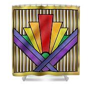 Rainbow Art Deco Shower Curtain