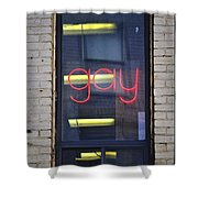 Gay Sign Shower Curtain