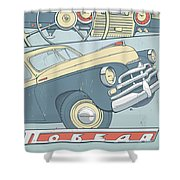 Gaz 20 Shower Curtain