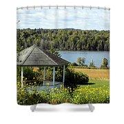 Gazebo And Caribou Lake Shower Curtain