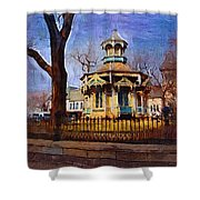 Gazebo And Tree Shower Curtain