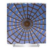 Gazebo Blue Sky Abstract Shower Curtain