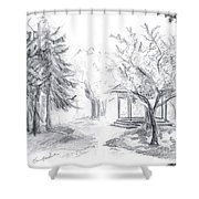 Gazebo Shower Curtain