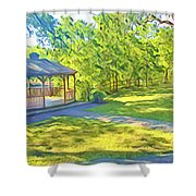 Gazebo On Onion Creek Shower Curtain