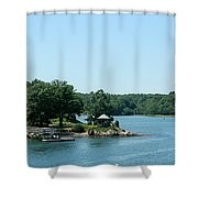Gazebo On The Ocean Shower Curtain