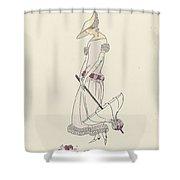 Gazette Du Bon Ton  1921   No  10  Croquis No Xiii  Anonymous  1921 Shower Curtain
