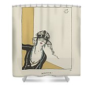 Gazette Du Bon Ton  1921   No  4  Pl  27  Bonjour Shower Curtain