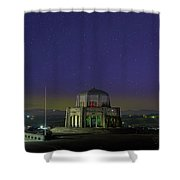 Gazing Stars At Vista House On Crown Point Shower Curtain