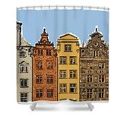 Gdansk Buildings Shower Curtain
