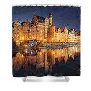 Gdansk By Night Shower Curtain