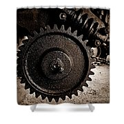 Gear And Screw Sepia 2 Shower Curtain
