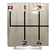 Gear Shift Knob Pattern Shower Curtain