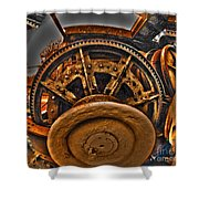 Gears Gone Mad Shower Curtain