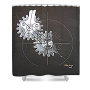 Gears No1 Shower Curtain