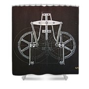 Gears No2 Shower Curtain