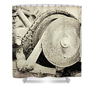 Gears Nuts And Bolts Shower Curtain