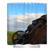 Gears Of History Shower Curtain