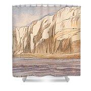 Gebel Abu Fodde By Edward Lear  1867 Shower Curtain