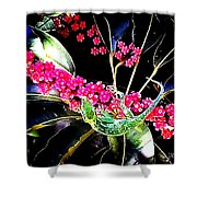 Gecko Berry Shower Curtain