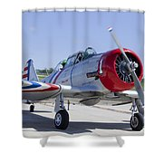 Geico Skytypers Snj-2 World War II-era Planes Shower Curtain