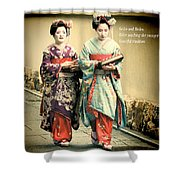 Geiko Haiku Shower Curtain