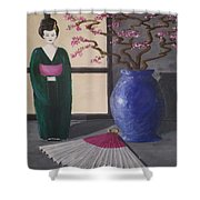 Geisha Doll Shower Curtain
