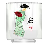 Geisha Girl Dancing Shower Curtain