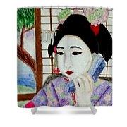 Geisha Girl Shower Curtain