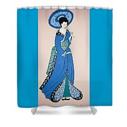 Geisha With Parasol Shower Curtain