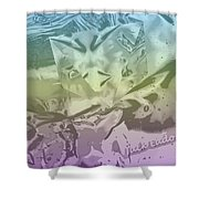 Gel Art Bw Tinted Shower Curtain