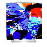 Blue Narcissus Shower Curtain