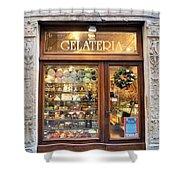 Gelateria In Assisi Shower Curtain