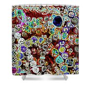 Multiverse Gelaxy Dark Shower Curtain