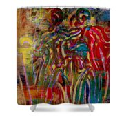 Gemini Abstract Shower Curtain